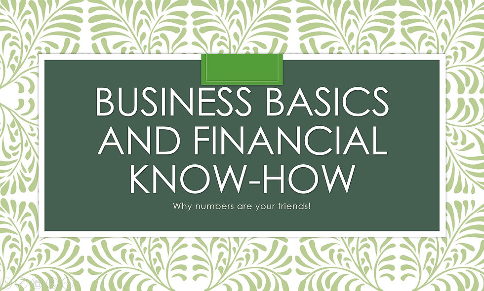 Business Basics and Financial Know-How