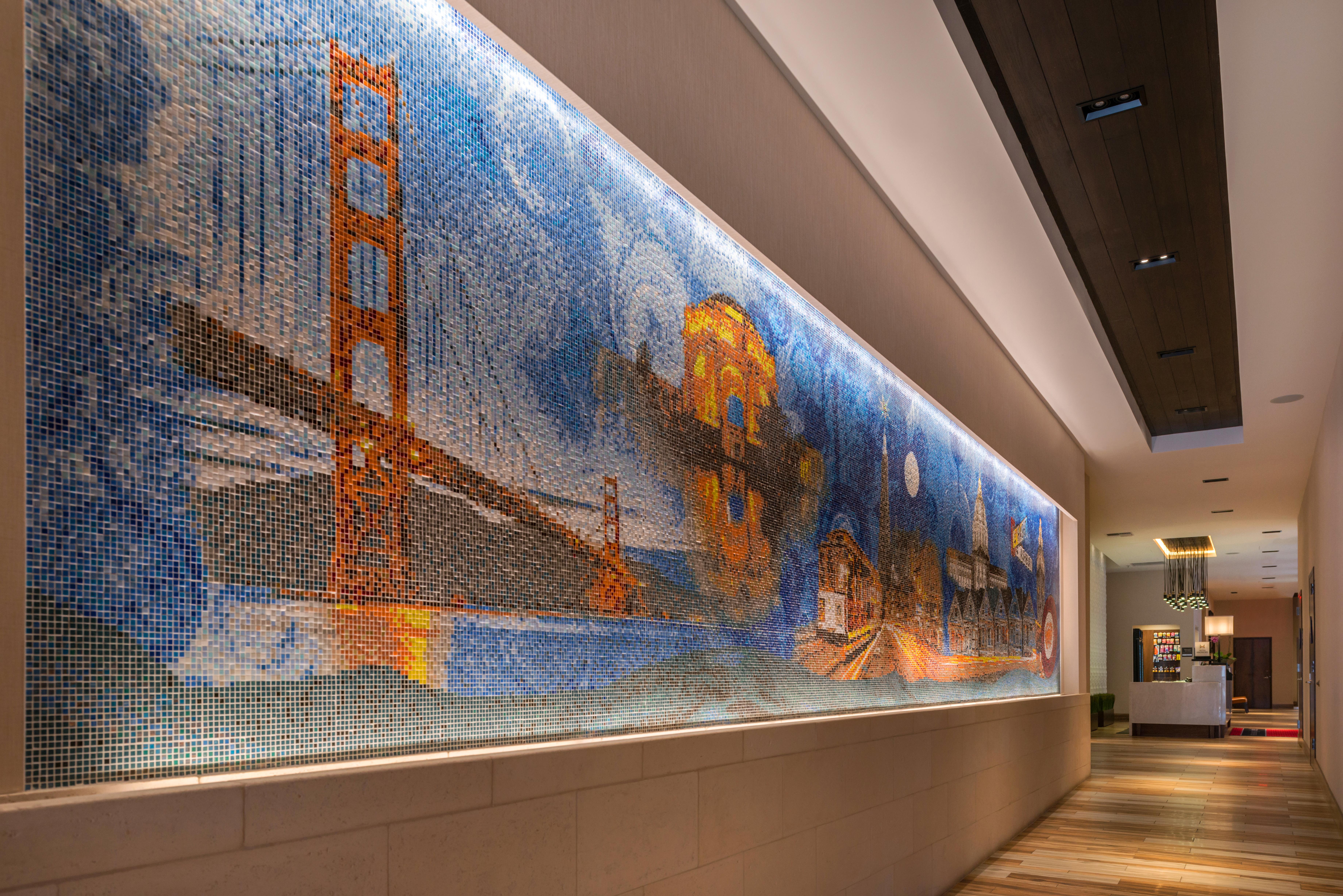 Hampton Inn SF Lobby Painting