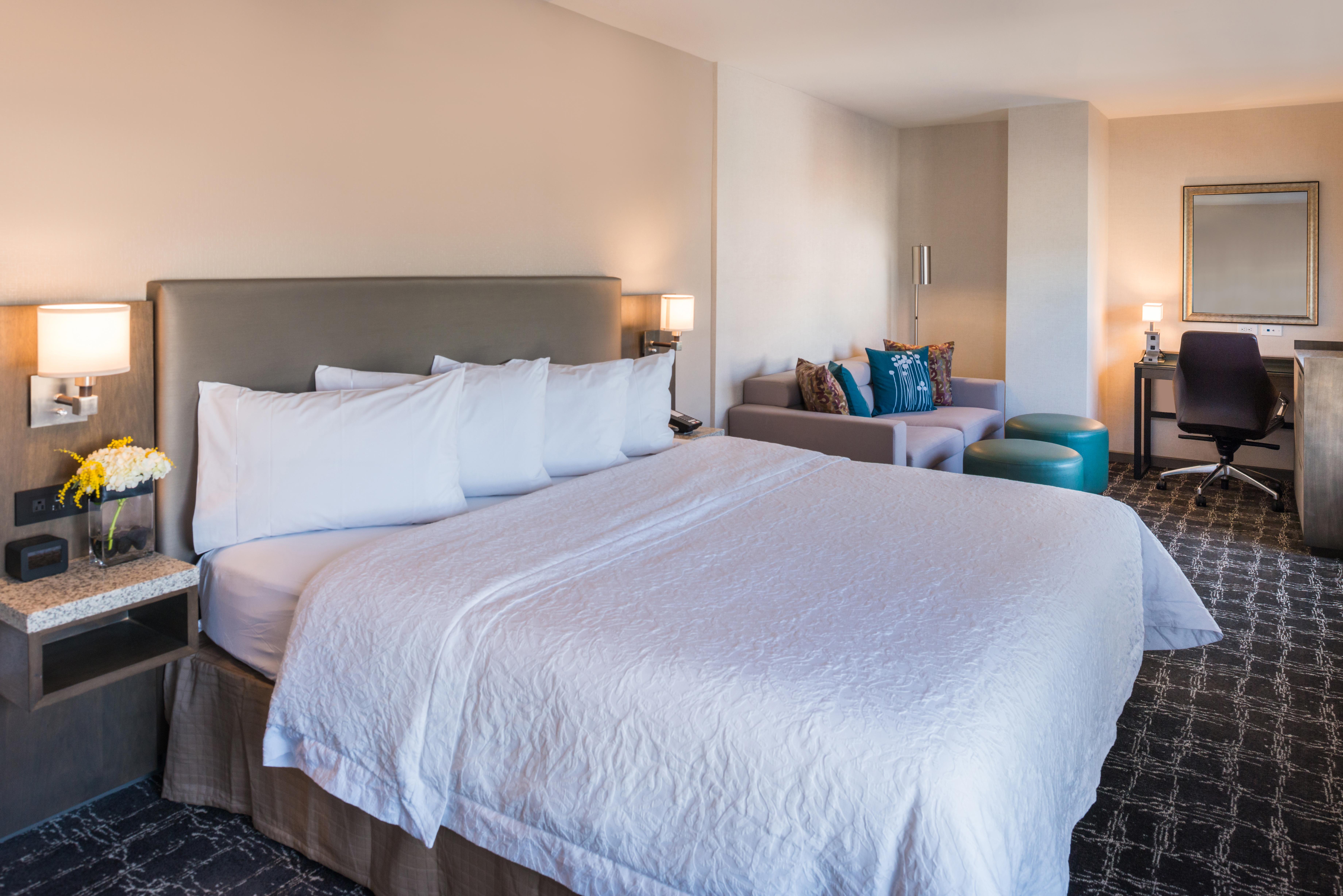 Hampton Inn SF King Bedroom Sofabed