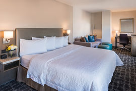 Hampton Inn SF King Bedroom with Sofabed