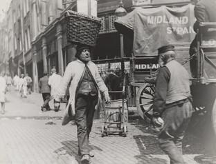 Porter Carrying a Basket of Shrimps, Billingsgate