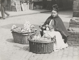 The Flower Woman at Ludgate Hill Station