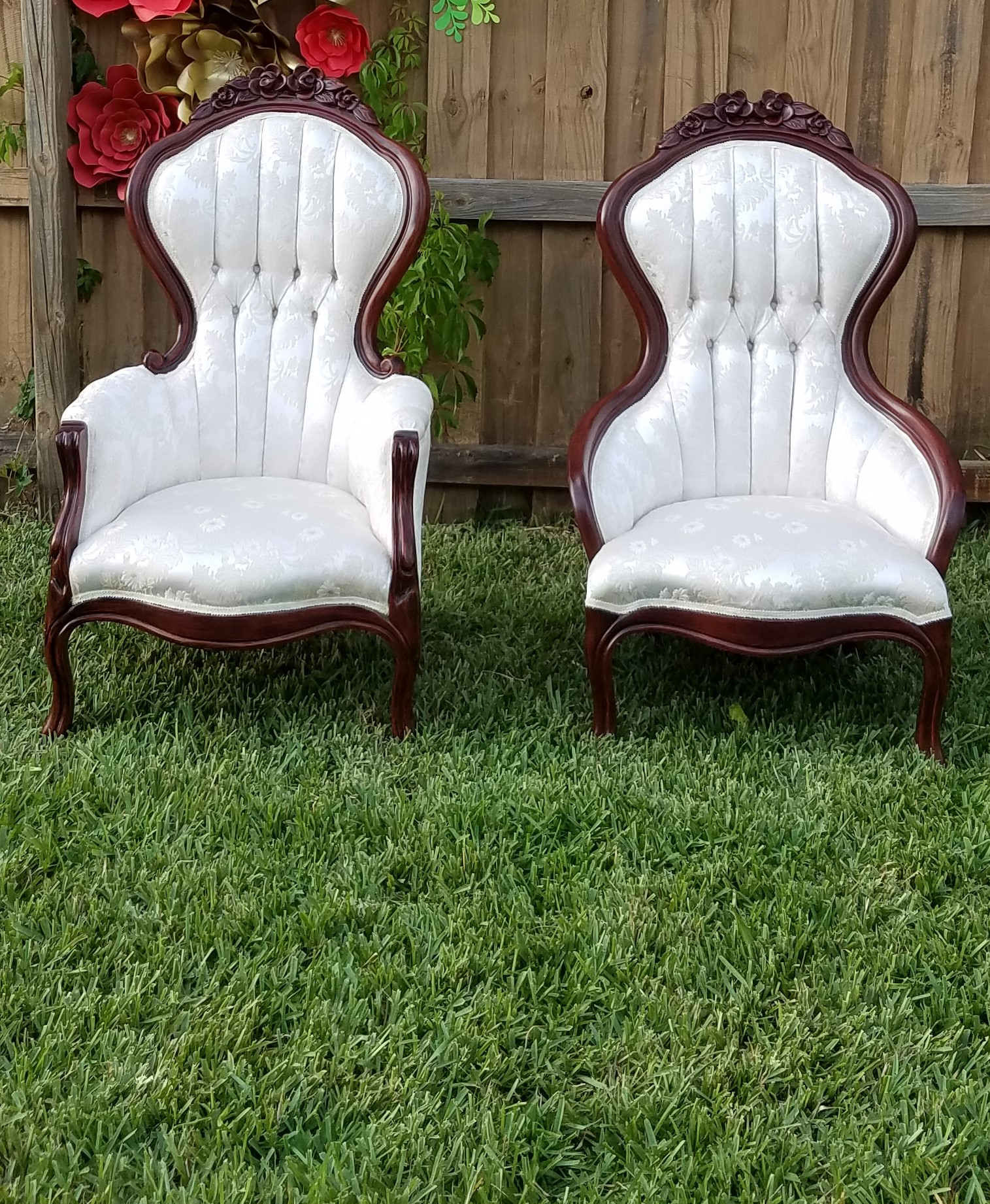 Victorian His/Her Chairs