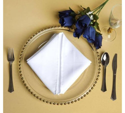 Gold Rimmed Charger Plates