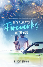 Book cover premade, love story, love, fireworks, couple