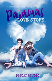Book cover premade, love story, love, pajamas, couple