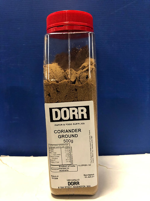 Ground Coriander 500g  Cylinder
