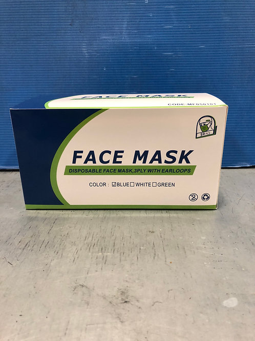 Face Mask Disposable 3ply 50s
