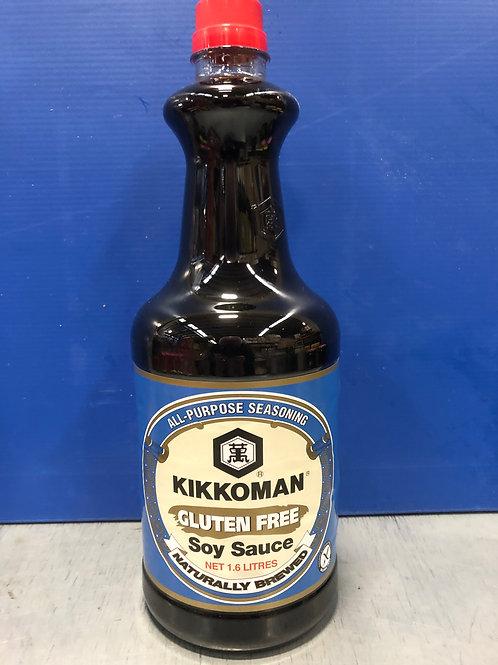 Sauce Soy Gluten Free Kikkoman 1.6lt