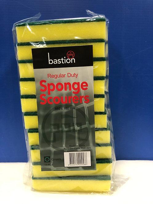 Sponge Scourers Green /Yellow Large 10s