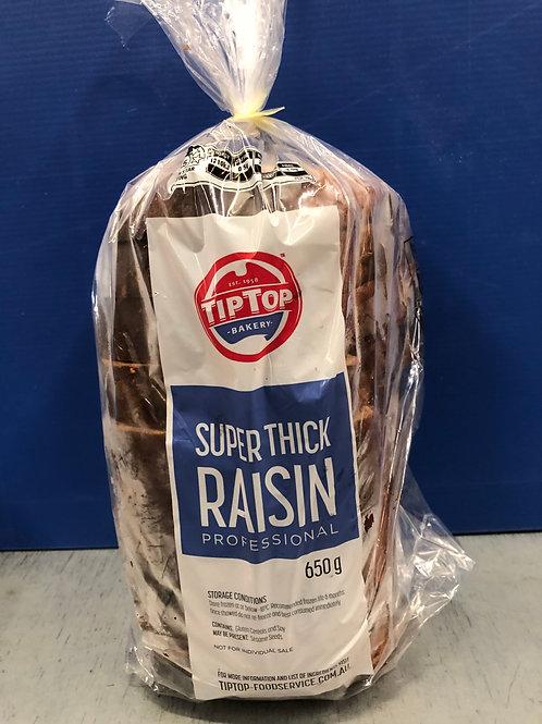 Bread Raisin Sliced Thick Tip Top 650g Frozen