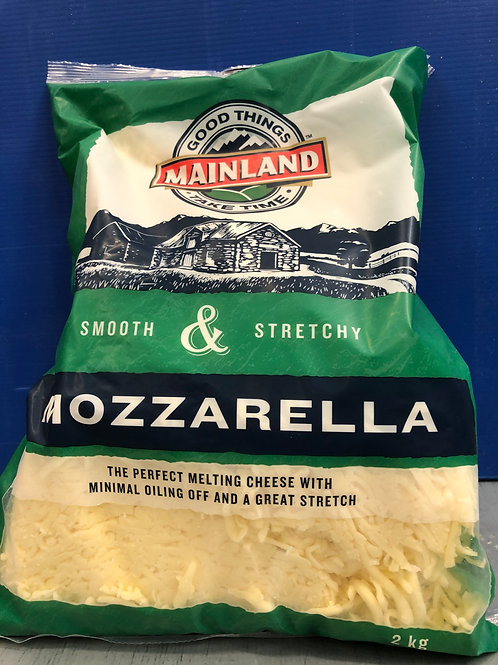 Shredded Mozarella Cheese 2kg