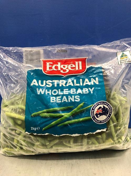 Whole Baby Beans 2kg {Frozen}