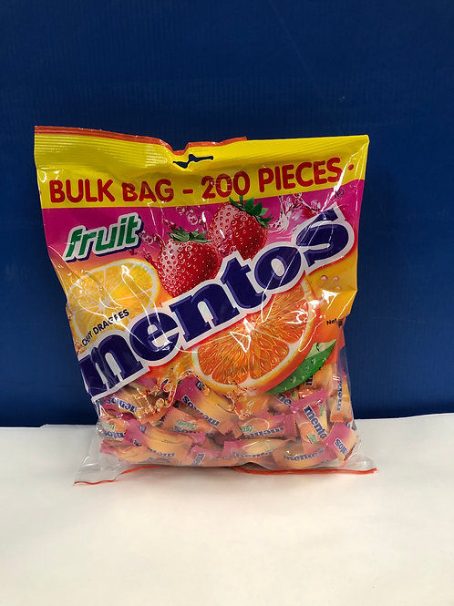 Mentos Fruit Flavour Individually Wrapped 200s