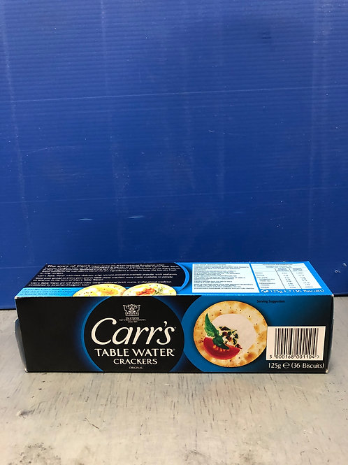 Carrs Water Cracker Biscuits 125g