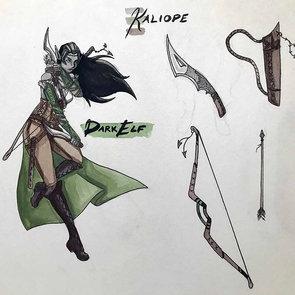 Kaliope the Dark Elf