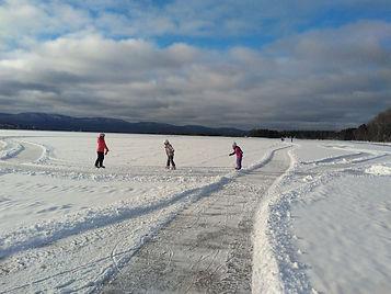 Activité hivernale sur la Baie de Gaspé, 2021, crédits photos : Julie Pineault