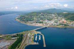 Le centre-ville de Gaspé