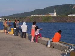 Pêche au quai de Grande-Vallée
