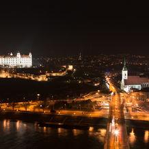 Bratislava Night View, from UFO Restaurant