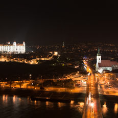Bratislava Night View, from UFO Restaurant