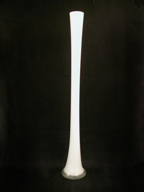 60cm White Lily Vase For Hire