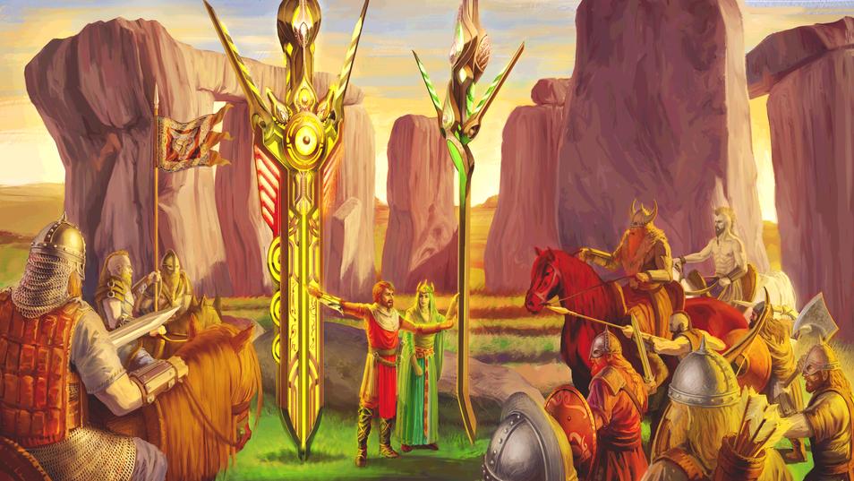 Hengemoot - Arthur parlays with Saxons