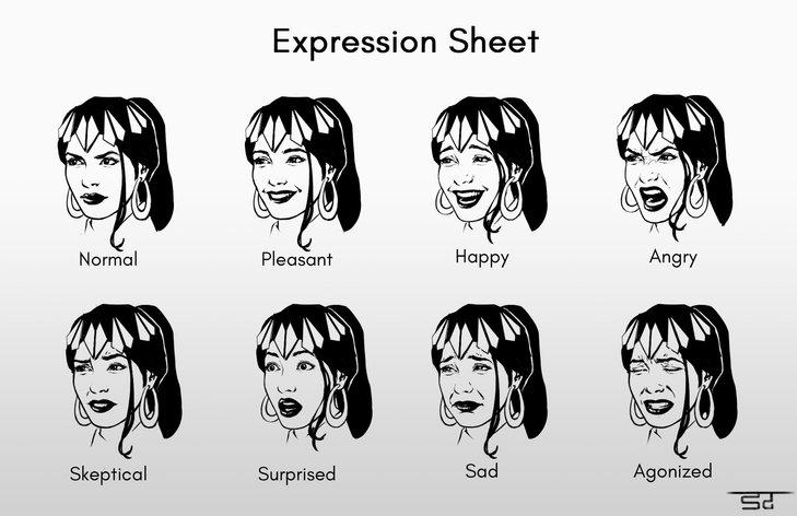 Nanaya - Expression sheet