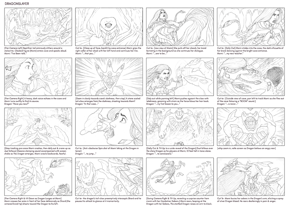 Dragonslayer Storyboard