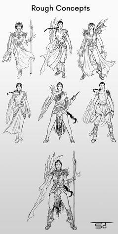 Nanaya - Preliminary Sketches