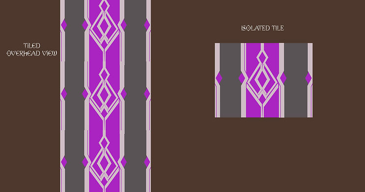 Floor tile orthographic