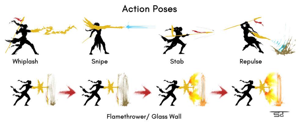 Nanaya - Action Poses
