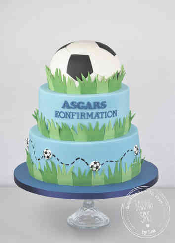 Fodbold konfirmationskage