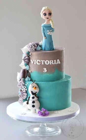 Frostkage figur Elsa og Olaf