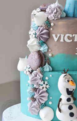 Frost kage med marengskys