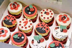 Mariehøne cupcakes