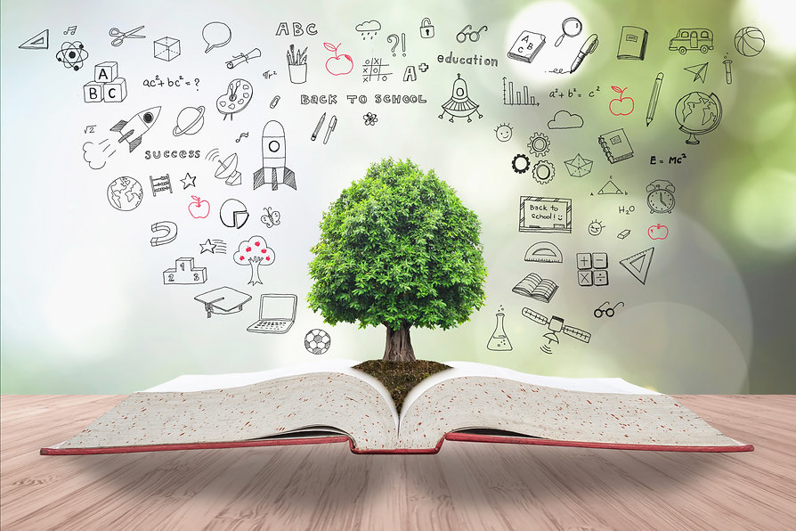 Tree of knowledge on book for sustainabl
