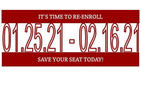 RAS: Your Choice in Education! Re-Enroll Your Child Today!