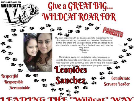 Wildcat Wednesday Parents ROAR!