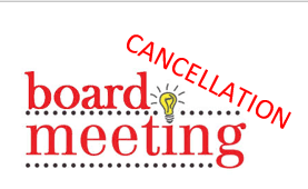 Board Meeting Cancellation Notice