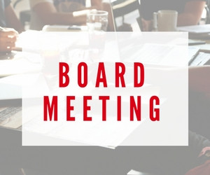 NOTICE OF A SPECIAL BOARD MEETING Wednesday, January 13th