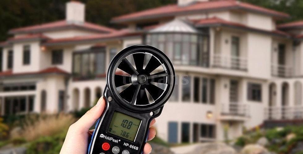 Medidor De Viento - Anemómetro Digital 866b