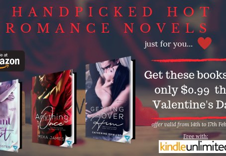 Grab these Hot Romance novels for just $0.99 this Valentine's Day!