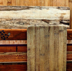 #wood and #stone _Artful cutting boards