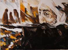 Mohammed Hussein's work showcased by U.S. Embassy to The Hague
