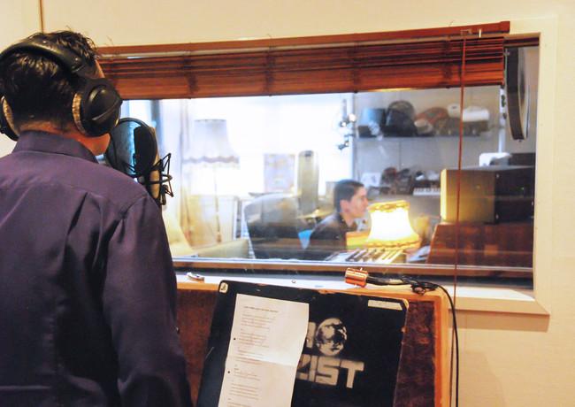 Innspilling av vokal i Vakuum Studio