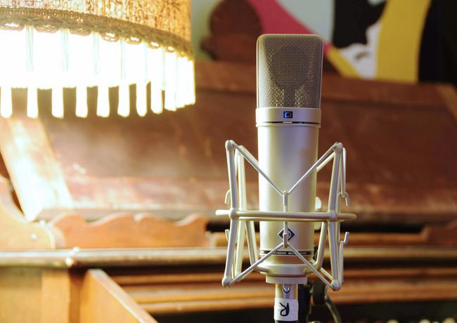 Vokalmikrofon i Vakuum Studio