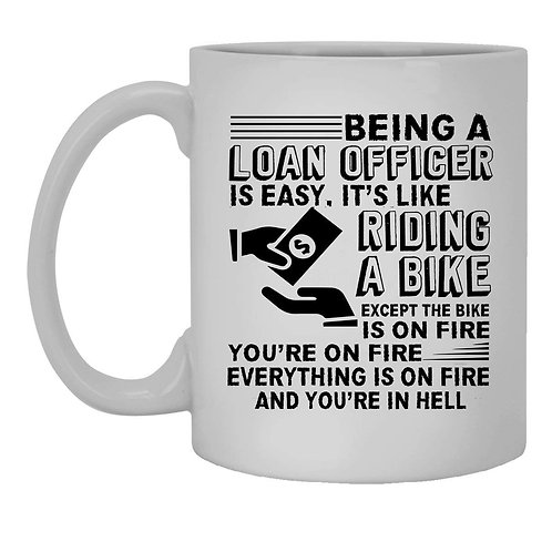 Loan Officer Coffee Mug - Riding a Bike