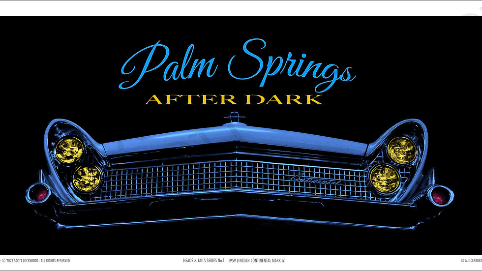 """PALM SPRINGS AFTER DARK - 36"""" x 17.5"""""""