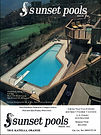 Photo of Sunset Pools for full page ad by photographer Scott Lockwood - c. 1979